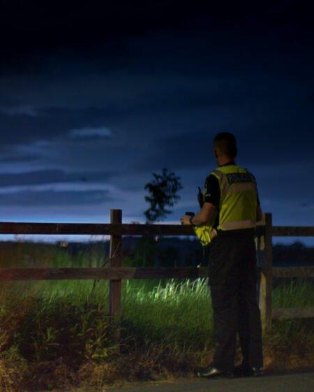 PHOD Police at dusk